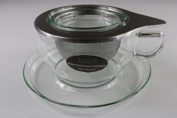 Trendglas Jena Tea Time Teetasse mit Edelstahlfilter (0,4 Liter)